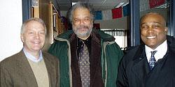 John Clementson (Chair, Education Department), Bill Green (Superintendent, Minneapolis Public Schools), Virgil Jones (Director, Diversity Center)